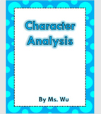 How to Write a Character Analysis   Novel Study   Graphic Organizer  