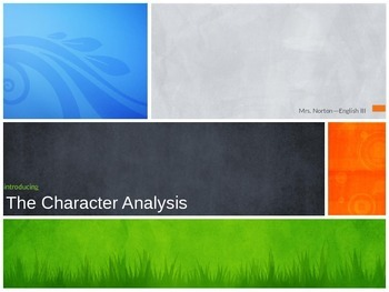 Character Analysis PPT Presentation