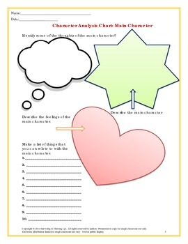 Character Analysis Activity Packet