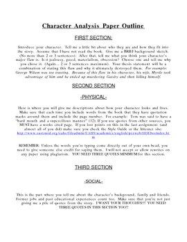 Character Analysis Paper - Gatsby