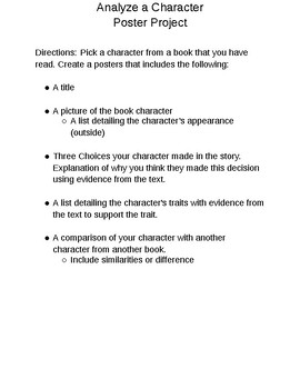 Character Analysis Poster Project