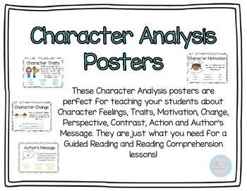 Character Analysis Posters