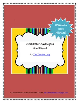 Character Analysis Questions