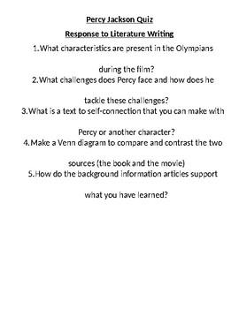 Character Analysis & Quiz