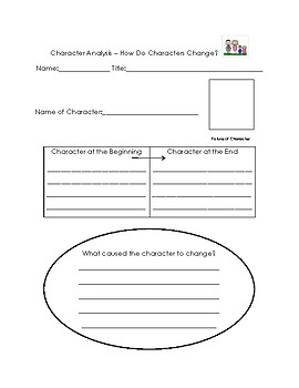 Character Analysis Reader Response Form