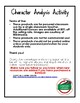 Character Analysis Activity Research Cube with Writing Extensions (English)