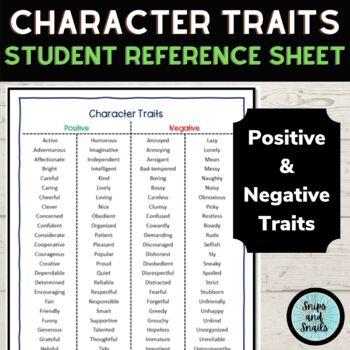 Character Analysis--STAR Chart and Organizer