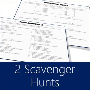 Character Analysis Scavenger Hunt (Grades 2-4)