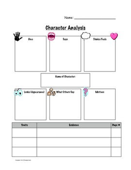Character Analysis Sheet