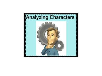 Character Analysis Smartboard- Common Core Reading