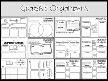 Character Analysis Stories and Graphic Organizers: Fall Edition