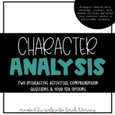 Character Analysis + TDA