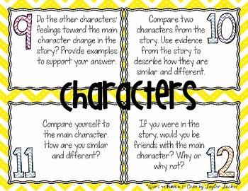 Character Analysis Task Mats