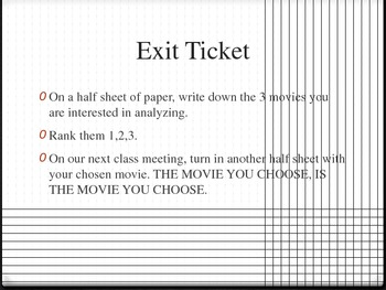 Character Analysis Through Movies!