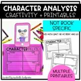 Character Analysis Traits Craft, Printable Worksheet, Read