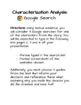 Character Analysis Using Google Search