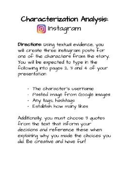 Character Analysis Using Instagram