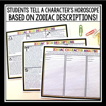 CHARACTER ANALYSIS ASSIGNMENT: ZODIAC HOROSCOPES