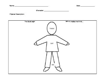 Character Analysis Worksheet by Ninja Kicks | Teachers Pay Teachers