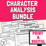 Character Analysis Worksheets and Activities Bundle | Distance Learning