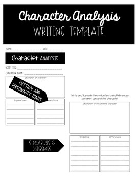 Character Analysis Writing Template