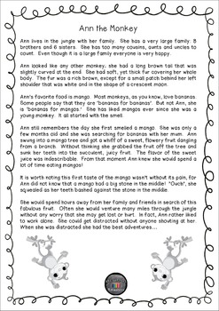 Character Analysis and Comprehension Worksheets and Lesson