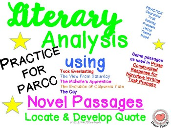 Literary Analysis and More Using Novel Passages