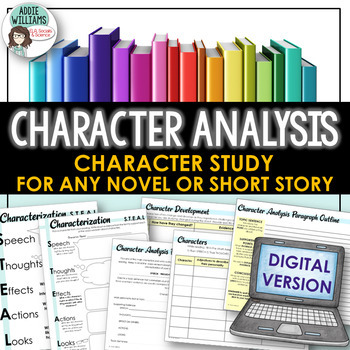 Character Analysis for ANY Novel or Short Story - Google / Digital Version