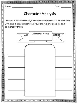 Character Analysis for Any Novel