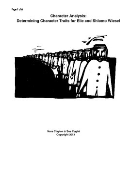 Character Analysis for Shlomo and Elie Wiesel in Night