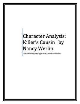 Character Analysis for The Killer's Cousin by Nancy Werlin