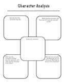 Character Analysis- graphic organizer for any character unit