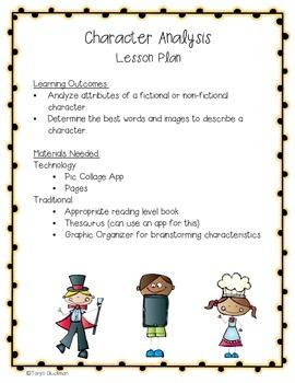 Character Analysis iPad Project