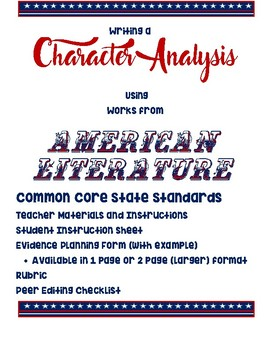 Character Analysis of American Literature
