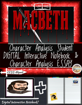 Shakespeare's Macbeth: Character Analysis-Digital and Printable!