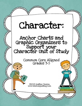 Character:  Anchor Charts and Graphic Organizers to Support Your Unit of Study