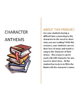Character Anthems