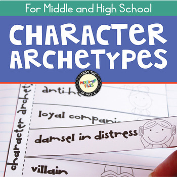 Character Archetypes Posters and Graphic Organizers