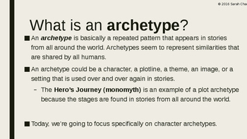 Character Archetypes Power Point