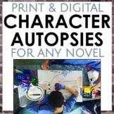 Character Autopsy for Any Novel, Grades 4-10