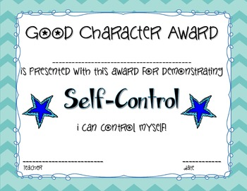 Character Education Award Certificates - Inch and Miles