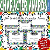 Character Award Certificates Purple | Digital and Paper Ve