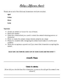 Character Award Project: Iqbal