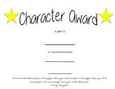 Character Award template