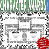 Character Award Certificates - Black and White - 100+