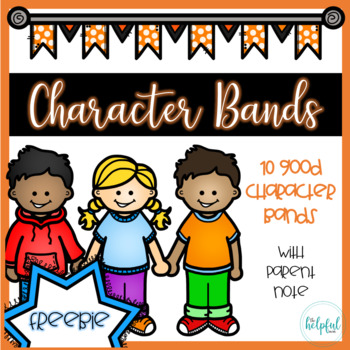 Character Bands (B/W) *with parent note* SAMPLE