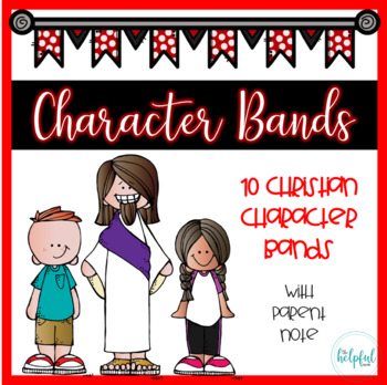 Character Bands - Religious Theme (B/W) *with parent notes*