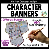Characterization Banners for ANY Book