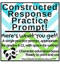 Character-Based Constructed Response Practice!