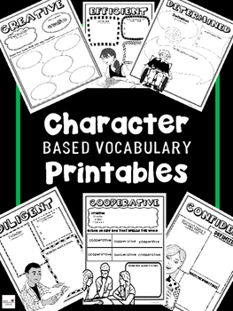 Character Based Vocabulary Printables